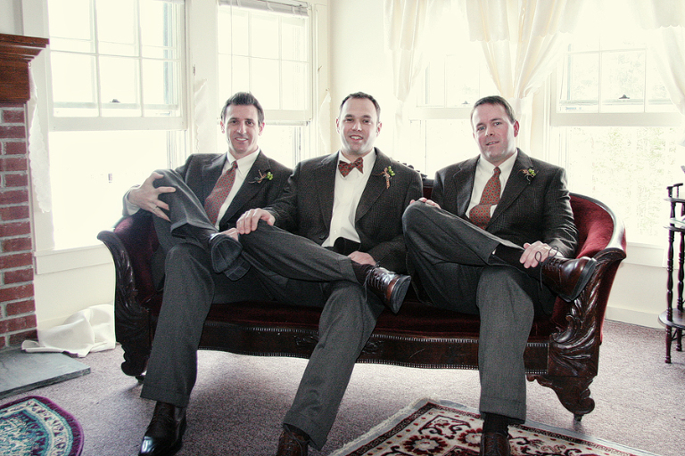 groomsmen in winter
