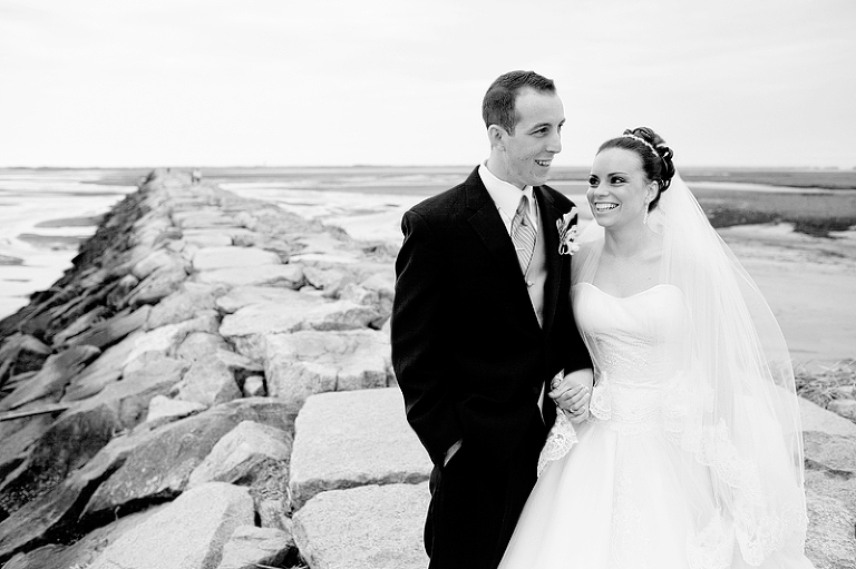 wedding at the breakwater in provincetown