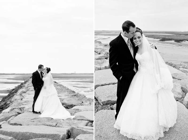 wedding photos on the beach in provincetown
