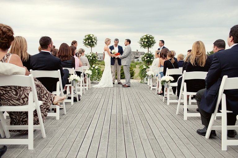 wedding on the wauwinet zen deck