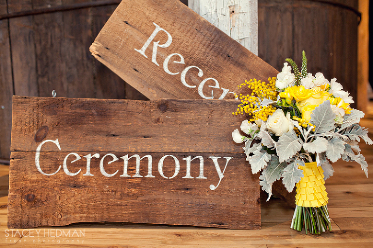 signs for a vermont wedding