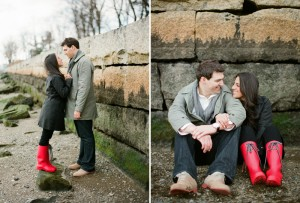 engagement photos on the chelsea waterfront