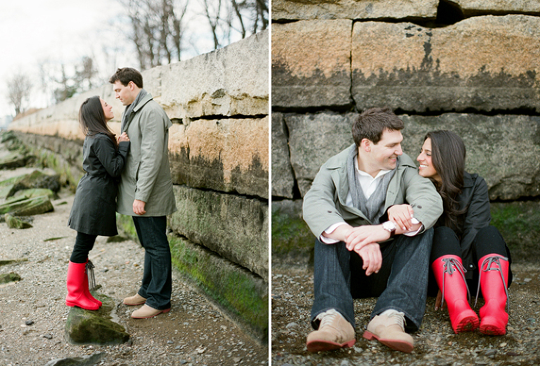engagement photos on the boston waterfront