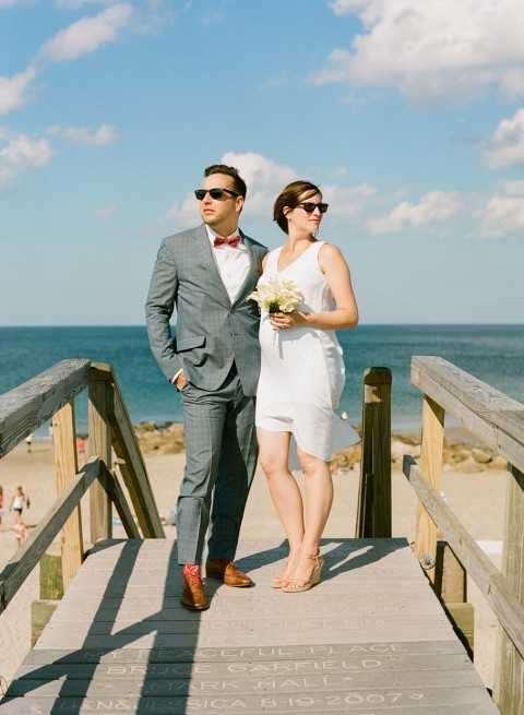 couple elopes on cape cod
