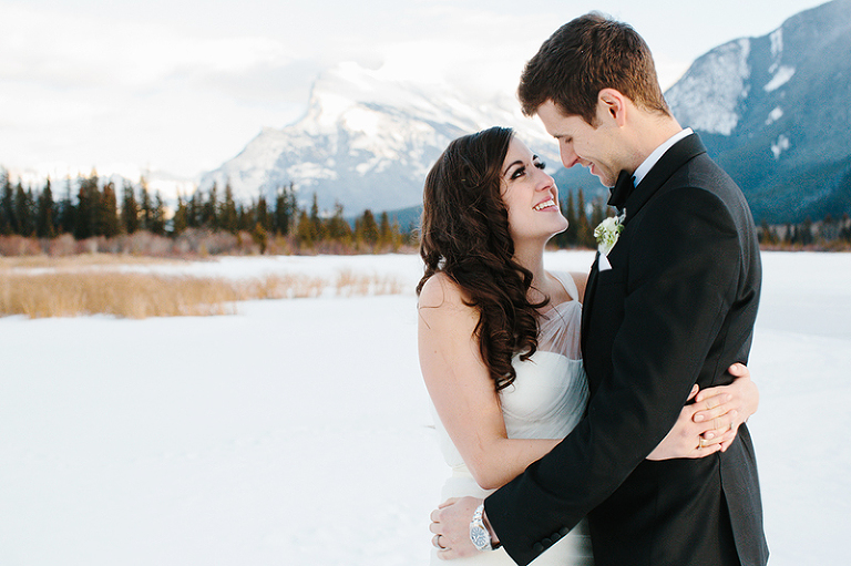 winter wedding in the rocky mountails