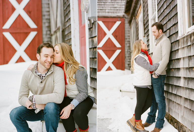 winter engagement on cape cod