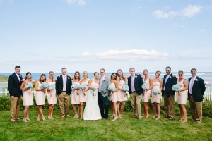 bridesmaids at a cape cod wedding