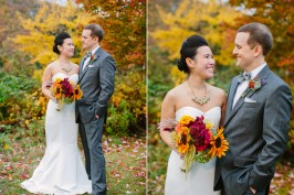 fall foliage wedding in the catskills
