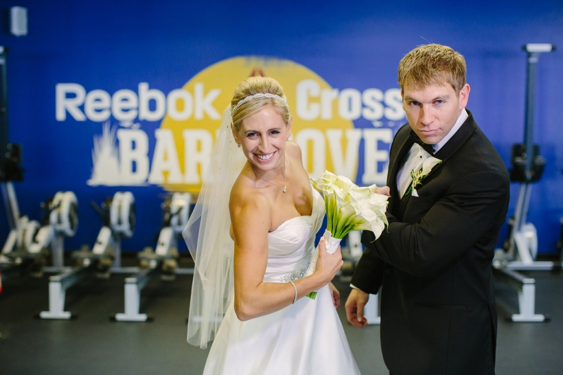 crossfit wedding couple