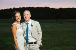 sunset wedding on cape cod