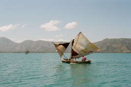 a sailboat in haiti