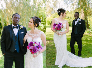 multiracial wedding couple on cape cod