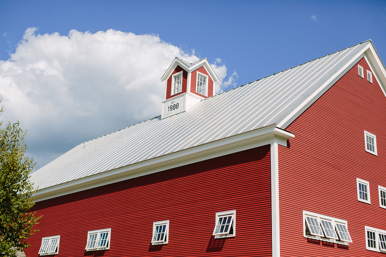 vermont red barn wedding