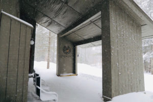 carport at vermont ski house