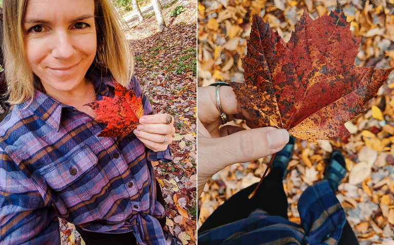 stacey in vermont fall foliage